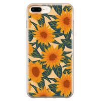 Telefoonhoesje Store iPhone 8 Plus/7 Plus siliconen hoesje - Zonnebloemen