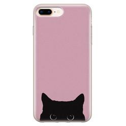 Telefoonhoesje Store iPhone 8 Plus/7 Plus siliconen hoesje - Zwarte kat