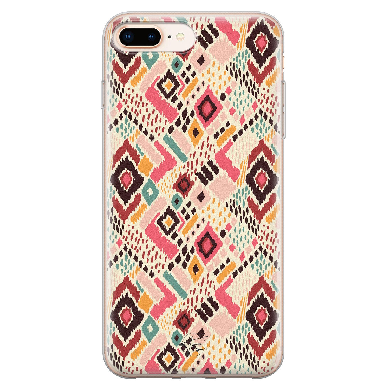 Telefoonhoesje Store iPhone 8 Plus/7 Plus siliconen hoesje - Boho vibes