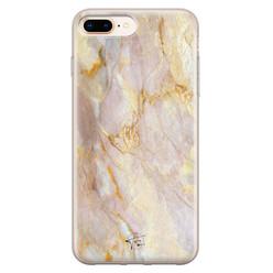 ELLECHIQ iPhone 8 Plus/7 Plus siliconen hoesje - Stay Golden Marble