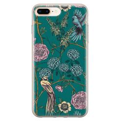 Telefoonhoesje Store iPhone 8 Plus/7 Plus siliconen hoesje - Bloomy birds