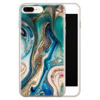 Telefoonhoesje Store iPhone 8 Plus/7 Plus siliconen hoesje - Magic marble