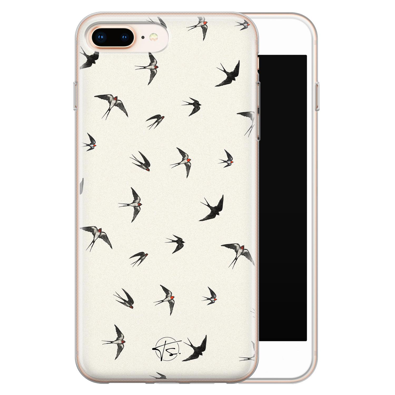 Telefoonhoesje Store iPhone 8 Plus/7 Plus siliconen hoesje - Freedom birds