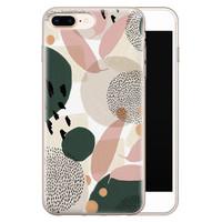 Leuke Telefoonhoesjes iPhone 8 Plus/7 Plus siliconen hoesje - Abstract