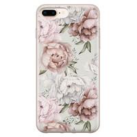 Telefoonhoesje Store iPhone 8 Plus/7 Plus siliconen hoesje - Classy flowers