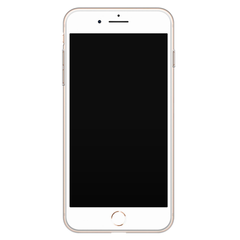Telefoonhoesje Store iPhone 8 Plus/7 Plus siliconen hoesje - Mint bloemen
