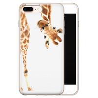 Leuke Telefoonhoesjes iPhone 8 Plus/7 Plus siliconen hoesje - Giraffe