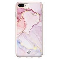 Casimoda iPhone 8 Plus/7 Plus siliconen hoesje - Marmer paars