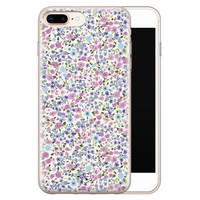 Telefoonhoesje Store iPhone 8 Plus/7 Plus siliconen hoesje - Purple Garden