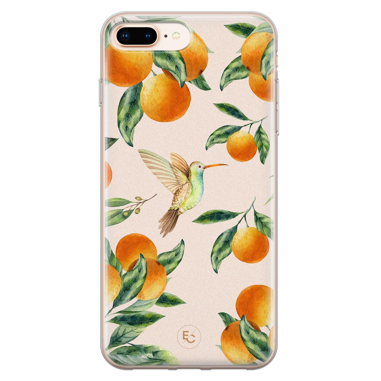 ELLECHIQ iPhone 8 Plus/7 Plus siliconen hoesje - Tropical Lemonade