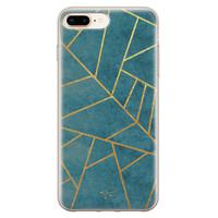 Telefoonhoesje Store iPhone 8 Plus/7 Plus siliconen hoesje - Abstract blauw