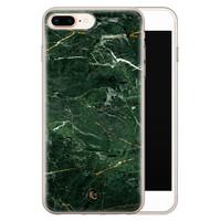 ELLECHIQ iPhone 8 Plus/7 Plus siliconen hoesje - Marble jade green