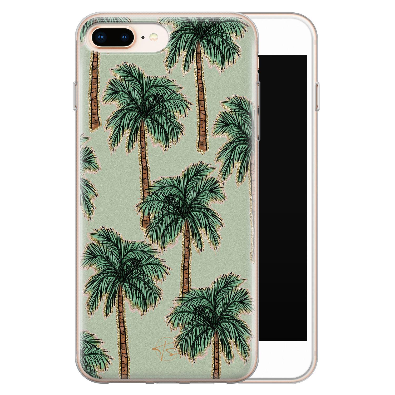 Telefoonhoesje Store iPhone 8 Plus/7 Plus siliconen hoesje - Palmbomen