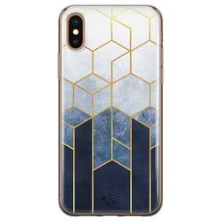 Telefoonhoesje Store iPhone XS Max siliconen hoesje - Geometrisch fade art