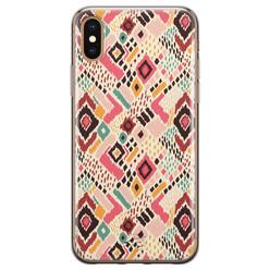 Telefoonhoesje Store iPhone XS Max siliconen hoesje - Boho vibes