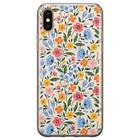Telefoonhoesje Store iPhone XS Max siliconen hoesje - Romantische bloemen