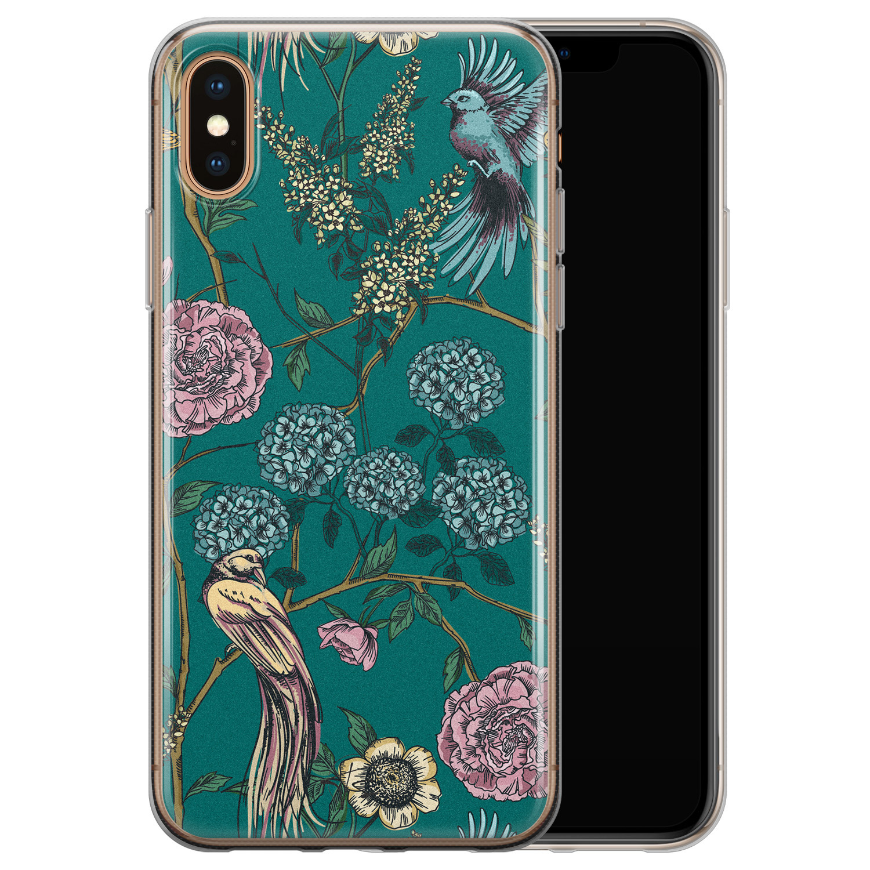 Telefoonhoesje Store iPhone XS Max siliconen hoesje - Bloomy birds