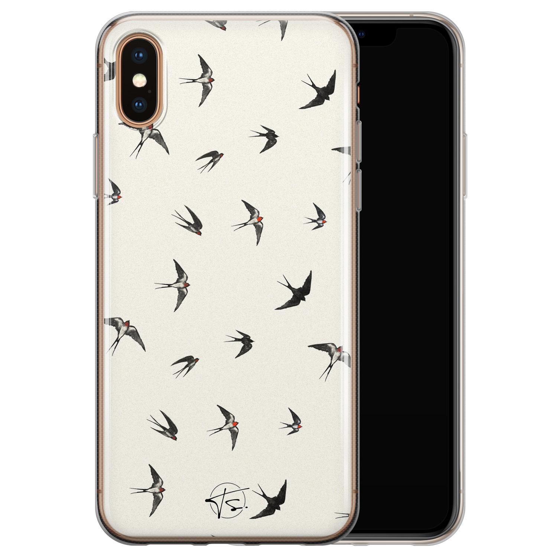 Telefoonhoesje Store iPhone XS Max siliconen hoesje - Freedom birds