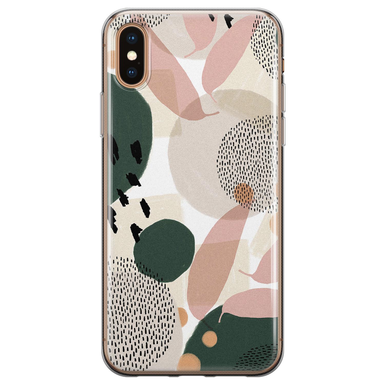 Leuke Telefoonhoesjes iPhone XS Max siliconen hoesje - Abstract