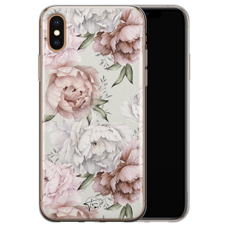 Telefoonhoesje Store iPhone XS Max siliconen hoesje - Classy flowers