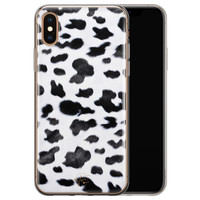 Telefoonhoesje Store iPhone XS Max siliconen hoesje - Koeienprint