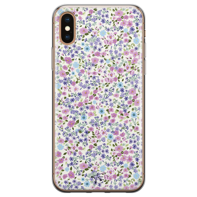 Telefoonhoesje Store iPhone XS Max siliconen hoesje - Purple Garden