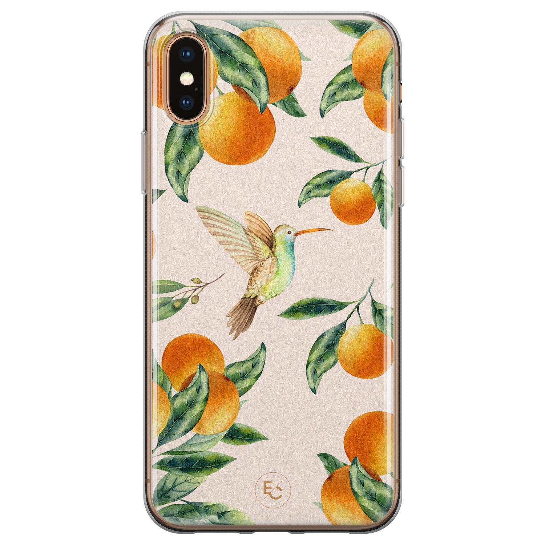 ELLECHIQ iPhone XS Max siliconen hoesje - Tropical Lemonade