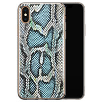 ELLECHIQ iPhone XS Max siliconen hoesje - Baby Snake blue