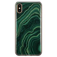 Telefoonhoesje Store iPhone XS Max siliconen hoesje - Agate groen