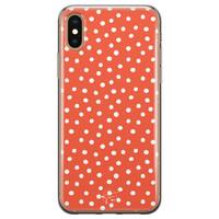 Telefoonhoesje Store iPhone XS Max siliconen hoesje - Oranje stippen