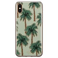 Telefoonhoesje Store iPhone XS Max siliconen hoesje - Palmbomen