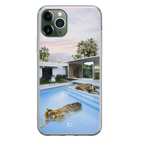 ELLECHIQ iPhone 11 Pro siliconen hoesje - Tiger pool