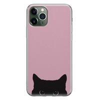 Telefoonhoesje Store iPhone 11 Pro siliconen hoesje - Zwarte kat