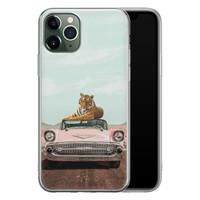 ELLECHIQ iPhone 11 Pro siliconen hoesje - Chill tijger