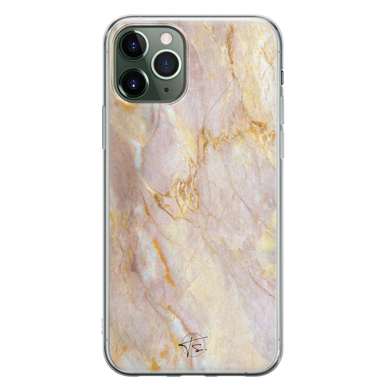 ELLECHIQ iPhone 11 Pro siliconen hoesje - Stay Golden Marble