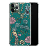 Telefoonhoesje Store iPhone 11 Pro siliconen hoesje - Bloomy birds