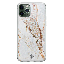 Casimoda iPhone 11 Pro siliconen hoesje - Goud marmer