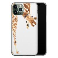 Leuke Telefoonhoesjes iPhone 11 Pro siliconen hoesje - Giraffe