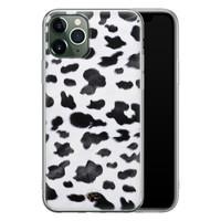 Telefoonhoesje Store iPhone 11 Pro siliconen hoesje - Koeienprint