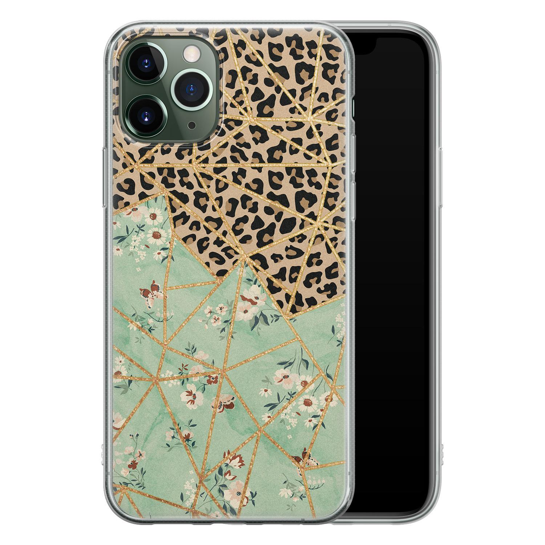 Leuke Telefoonhoesjes iPhone 11 Pro siliconen hoesje - Leo Flower