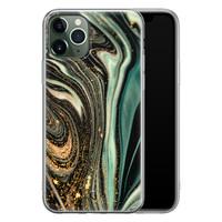 ELLECHIQ iPhone 11 Pro siliconen hoesje - Marble Khaki Swirl