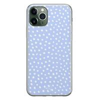 Telefoonhoesje Store iPhone 11 Pro siliconen hoesje - Lila stippen