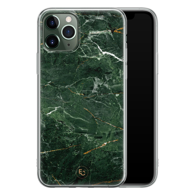 ELLECHIQ iPhone 11 Pro siliconen hoesje - Marble jade green