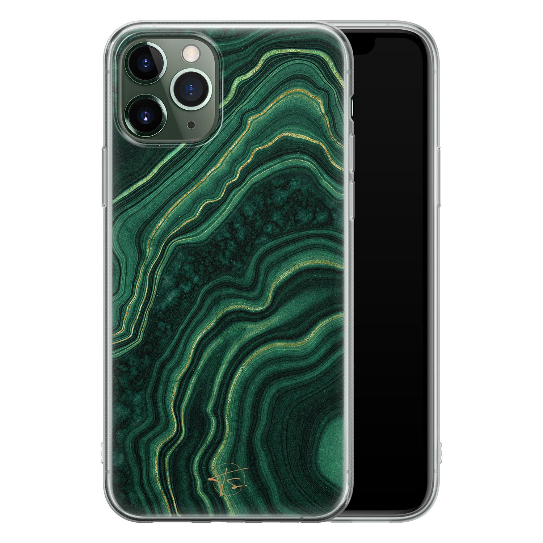 Telefoonhoesje Store iPhone 11 Pro siliconen hoesje - Agate groen