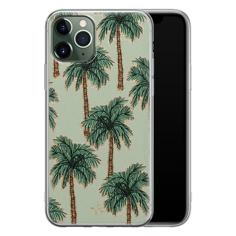 Telefoonhoesje Store iPhone 11 Pro siliconen hoesje - Palmbomen