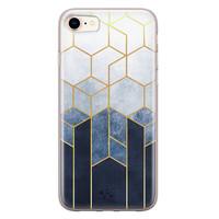 Telefoonhoesje Store iPhone 8/7 siliconen hoesje - Geometrisch fade art