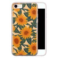 Telefoonhoesje Store iPhone 8/7 siliconen hoesje - Zonnebloemen