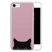 Telefoonhoesje Store iPhone 8/7 siliconen hoesje - Zwarte kat