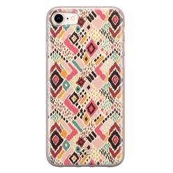 Telefoonhoesje Store iPhone 8/7 siliconen hoesje - Boho vibes