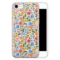 Telefoonhoesje Store iPhone 8/7 siliconen hoesje - Romantische bloemen